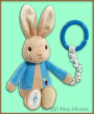 PETER RABBIT JIGGLE ATTACHABLE SOFT PLUSH TOY FOR PRAM / COT ETC NEW SUPERB GIFT