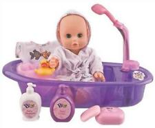 Baby Doll Bath Set Play Toys Pretend Kids Girls Toddler Tub Soap Lotion Duck New