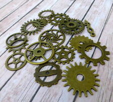Pack of 17 -Steampunk Gear Charms Pendants Mix, jewellery making, scrapbooking