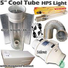 "5"" Cool Tube Reflector Duct Fan Ducting Magnetic Ballast 250W HPS Grow Light"