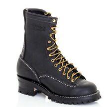 "Wesco Highliner 10"" Black Boots 9710 Sz 9.5 D NEW"