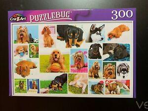 """PUZZLEBUG 300 PIECE DOGS JIGSAW PUZZLE NIB 18.25"""" X 11""""  CRA-Z-ART"""