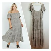 [ AUTOGRAPH ] Womens Tiered Maxi Animal Print Dress | Size AU 22 or US 18