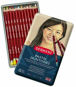 Derwent Pastel Pencils - 12 Colours - Skintones Set - Professional Quality