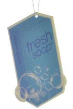 Fresh Soap Car Air Freshener Cardboard Hanging Long Lasting Scent, Ocean Breeze