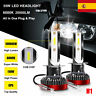 Copia 55W H1 20000LM Coche COB LED Faros Bombilla Lámpara Kit Xenón Blanco 6000K