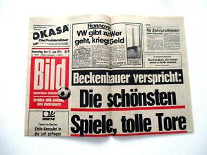 Bild Zeitung 13. Juni 1974 Beckenbauer 13.06.74 Fußball WM Geburtstag Geschenk