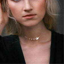 Peace Dove Bird Necklace Delicate Imitation Pearl One Layer Choker Necklace Gift