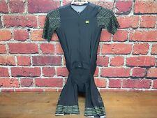 Ale R-EV1 Fuga Skinsuit Men's Medium Cycling Road Bike Jersey Shorts Black/Green
