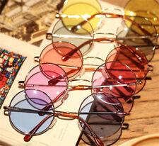 Retro Colorful Women Round Glasses Lens Sunglasses Eyewear Plastic Frame Glasses