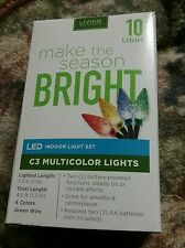 Lights Set of 10 count mini battery operated LED light New MULTICOLOR  SET NEW