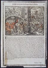Gravures sur bois Woodcut print Jean Cousin Figures de la Sainte BIBLE Folio 43