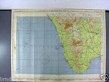 US ARMY AIR FORCE MAP AERONAUTICAL PILOT CHART WW2 1944 CAPE COMORIN INDIA 795