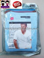 SO CHEAP! HANES 3PACK COLORED VNECK TSHIRTS COMFORTSOFT LARGE MADE IN JAMAICA