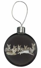 Bengal Kittens Posing for Camera Christmas Tree Bauble Decoration Gift, AC-29CB