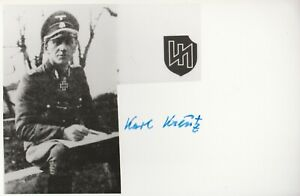 "KARL KREUTZ ""DAS REICH "" KNIGHTS CROSS WINNER"