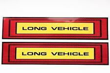 2 x XL LONG VEHICLE Aufkleber 50x10 rot gelb Reflektor Band Streifen LKW AN22