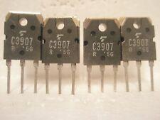 (x4 pcs)TOSHIBA (2S)C3907 NPN TO-3P TRANSISTORS (180V 130W 12A) 100% GENUINE!
