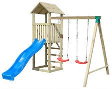Casetta in Legno per Bambini Torretta Altalena Scivolo Parco Giochi da Giardino