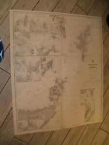 Vintage Admiralty Chart 2397b SHETLAND & ORKNEYS + NORTH SCOTLAND 1915 edn