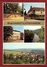 """Braunsdorf-Lichtenwalde Kr. Flöha DDR Mehrbild-AK ua. Gaststätte """"Am Bahnhof"""""""