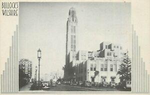 Vintage Postcard Art Deco Bullock's Wilshire Luxury Department Store Los Angeles