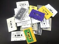 Cassette Tape lot of 25 used for Crafts Or Decoration 80s 90s Party Nostalgia