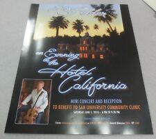 ☆ Rare Mini Poster Don Felder - Eagles - Hotel California - Grammy Museum 2010