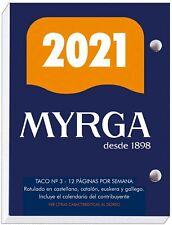 Myrga 2020 Nº 3 Taco Calendario Sobremesa