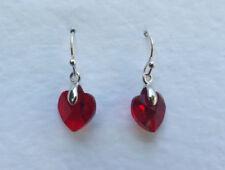 Pendientes de bisutería color principal rojo cristal