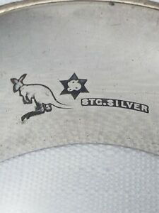 Rare Australian sterling Silver Kangaroo Hallmark Napkin Ring