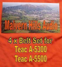A Set of 4 x New Belts for the Teac A-5300 / A-550  4 x Square Section