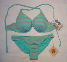 NWT Eidon Swimsuit Bikini 32D 34D 36D 38D Gemini Scoop bottoms Sz S Spearmint