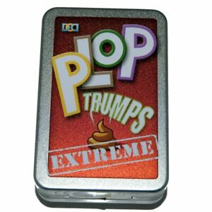 PLOP TRUMPS EXTREME ANIMAL POO KIDS NOVELTY CARD GAME NEW