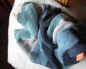 80x100cm,Blau Gr/ün Surwin Strickdecke Babydecke Kuscheldecke Baumwolle M/ädchen und Jungen Babys Gestrickt Kinderdecke Freien Krabbeldecke Perfekt f/ür Kinderwagen Babybett