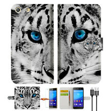 Leopard Wallet TPU Case Cover For Sony Xperia M5 -- A013