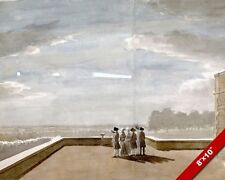 GREAT METEOR OF 1783 AT WINDSOR CASTLE ENGLAND PAINTING ART REAL CANVAS PRINT
