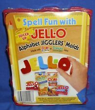 Jell-o Jello Alphabet Jigglers Molds with Directions 2000 Gelatin Play-Doh New 1