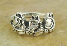 S Ring size 6 style# r1720 Unique .925 Sterling Silver Bridled Horse