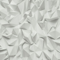 P+S International White & Grey Realistic 3D Geometric Effect Vinyl Wallpaper