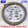 AN6 6AN AN-6 Teflon Braided PTFE E85 Ethanol Oil Line Fuel Hose End Fitting LI