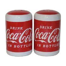COCA COLA COKE DRINK CERAMIC SALT/PEPPER SET   NEW!!