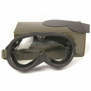 US Army Tanker Goggles M-1944 Dust Panzerbrille WK2 WWII D-Day Stock No 74-G-77