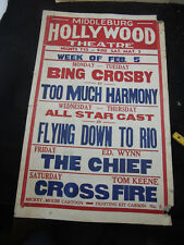 Original 1934 MOVIE THEATRE MARQUEE Poster Middleburg VA Red Fox Hollywood C