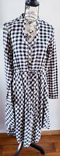 Tasha Polizzi Collection Gingham Dress  Sz Med