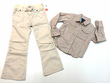 Toddler Girl Fall Winter Outfit Ralph Lauren Shirt & Old Navy Pants Size 4