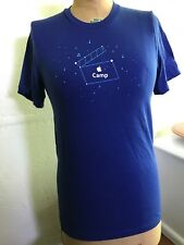 Apple T-Shirt MAKE MOVIE MAGIC CAMP Mac Computers Blue Men's S USA