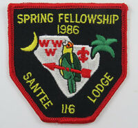OA Lodge 116 Santee eX1986-1, Fdl; Spring Fellowship [D1738]