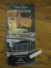 2013 Pebble Beach Concours d' Elegance Car Guide Classic Antique Collector cars