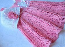 Crochet Pattern - Harvest Baby Dress = Christening Baptism  Beautiful